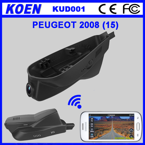 China DVR Factory 1080P Hidden DVR Wifi Car Camera For 2015 Peugeot 2008