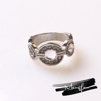New Style Fashion Designer Beautiful Letter M Ring