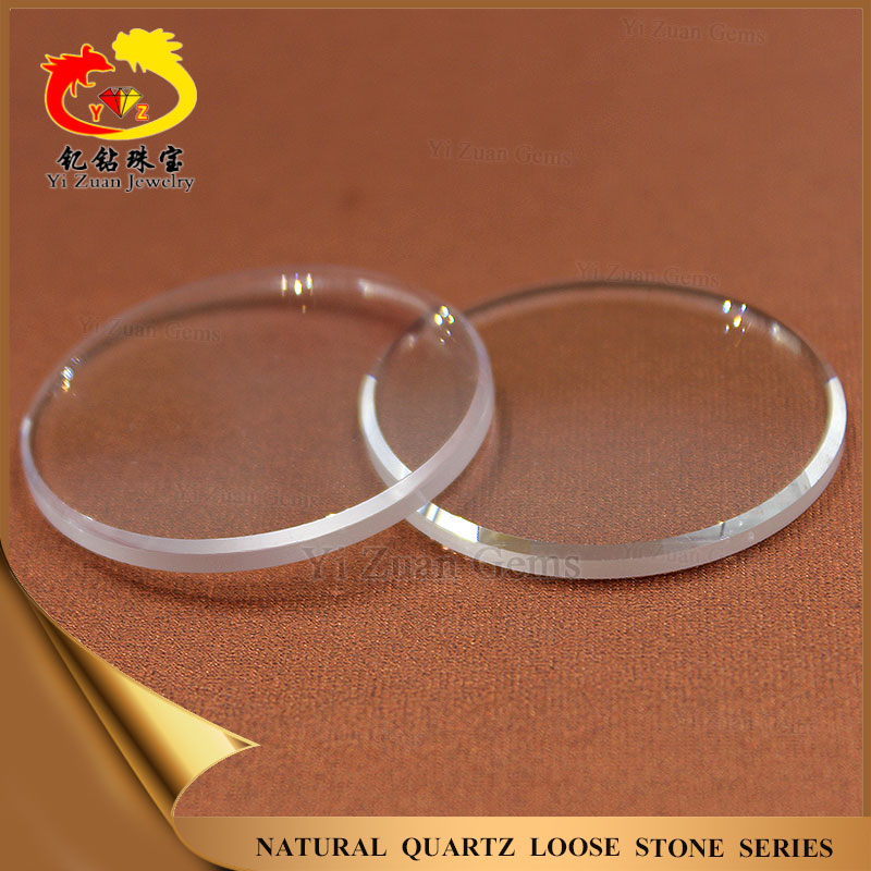 Synthetic white sapphire slices watch artificial corundum stone