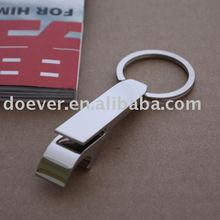 Chrome Classic Bottle Opener Keychain, Pop-Top opener Key Chain with custom logo engraved