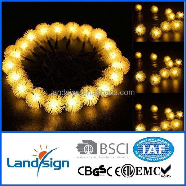 Solar battery led light balls Lights 15ft 10 LED Ball for Homes Christmas