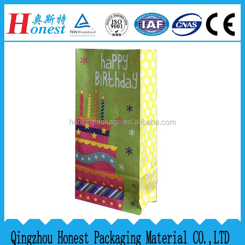 Tin tie brown Gift Paper Bag For Sale