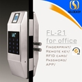 Smart Fingerprint Codes Door Lock for Glass Door with remote control