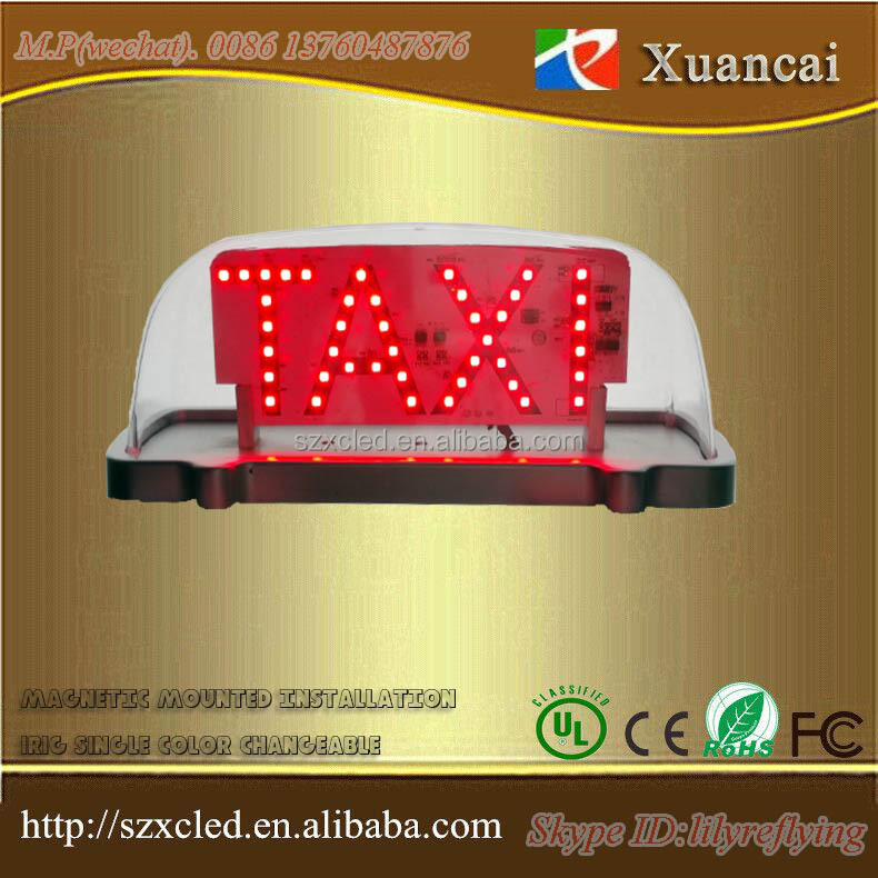 Factory directly selling led roof top TAXI two sides waterproof magnetic mounted LED lights