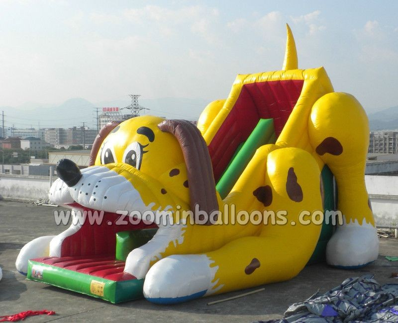 Hot&Colourful cartoons inflatable slide with bounce for sale Z3006