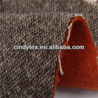 3s yarn dyed bonded double faced woven wool fabric