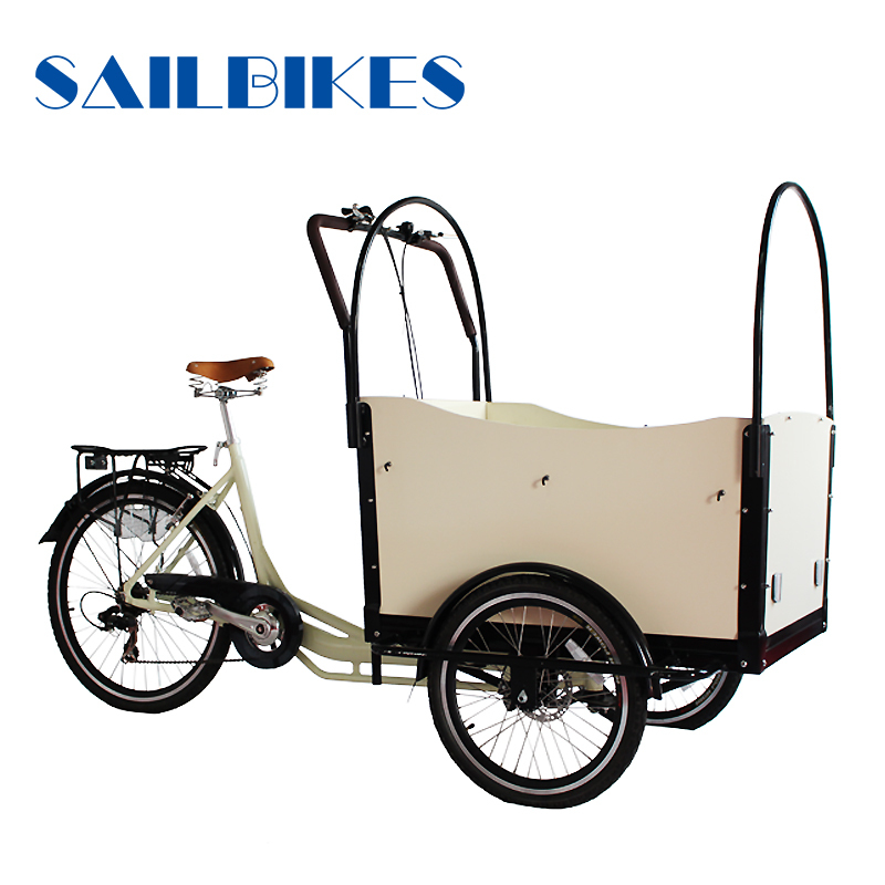 europe motorized new closed cabin cargo tricycle