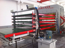 DCY900T 5 Daylights(automatic plate in and out) double-side hot press/Melamine hot press