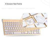 fashionable and silent 2.4G wireless keyboard and mouse comb
