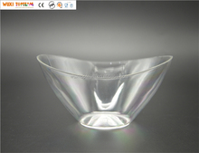 "6"" Disposable Plastic Small Salad Serving Bowl"