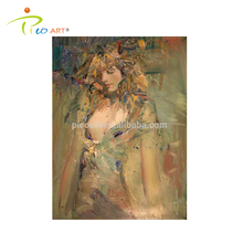 handmade abstract beautiful naked women oil painting on canvas customization available