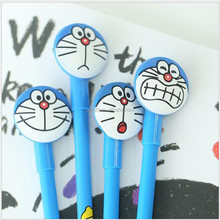 Cute cartoon black ball-point pen wholesale Korea stationery Doraemon water-based neutral pen A undertakes