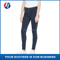2015 new product for dark washing jeans women 100% cotton skinny jeans wholesale price