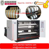 LFQ vertical type Automatic plastic PVC PET BOPP film Paper Roll slitting and rewinding machine with flat knife