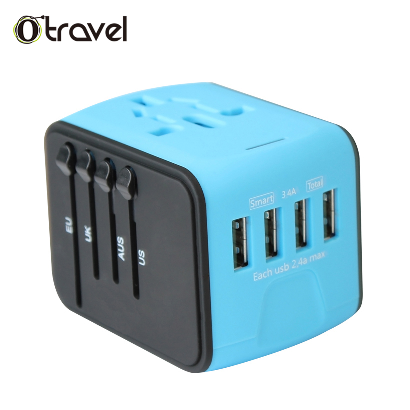 Latest New universal travel smart usb <strong>electrical</strong> plug socket adaptor universal travel adapter 4 usb