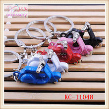 Hot sale mini chopper shaped key chain,colorful motorcycle shaped key chain