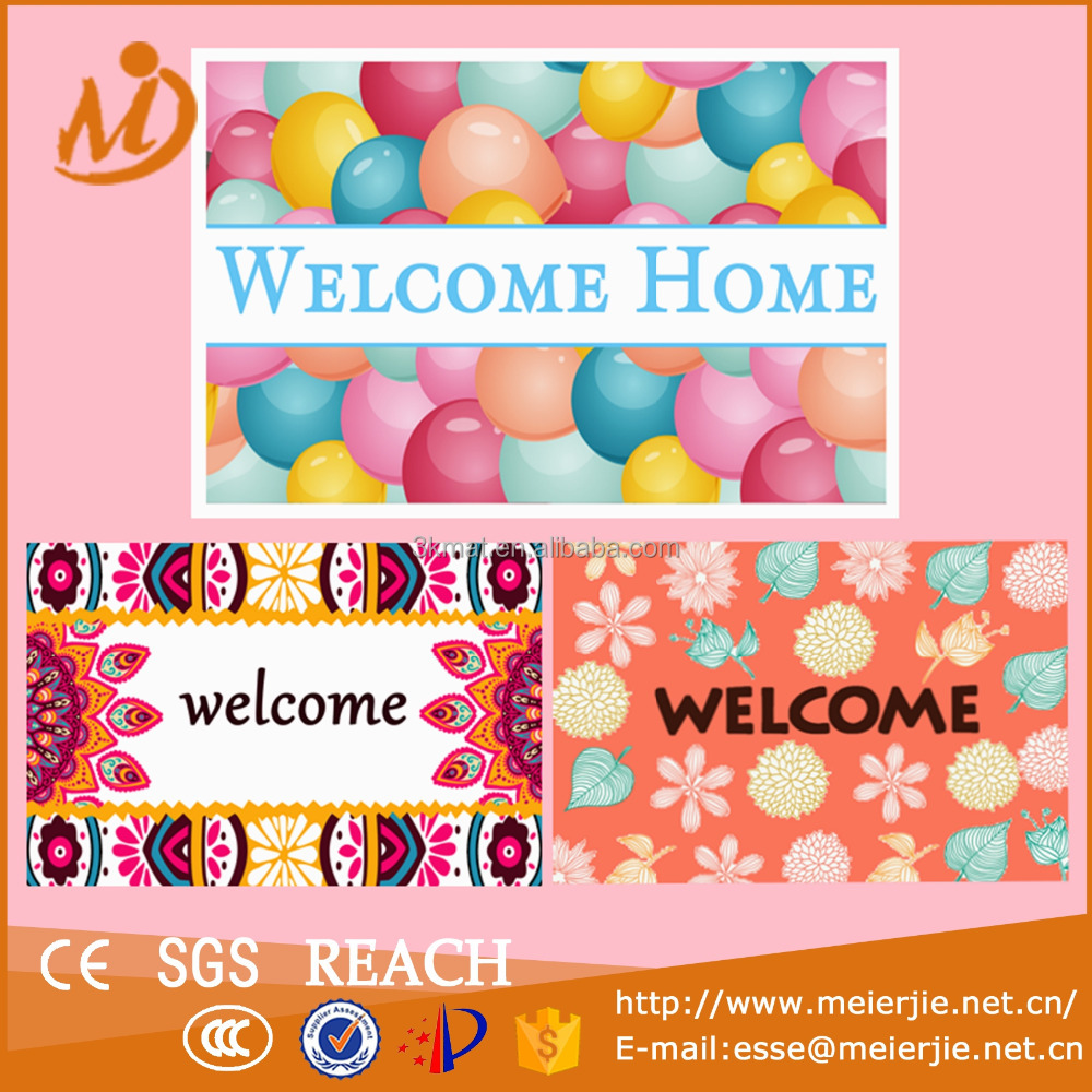 Wholesale Custom Printed Coir Door Mats with Fancy Design