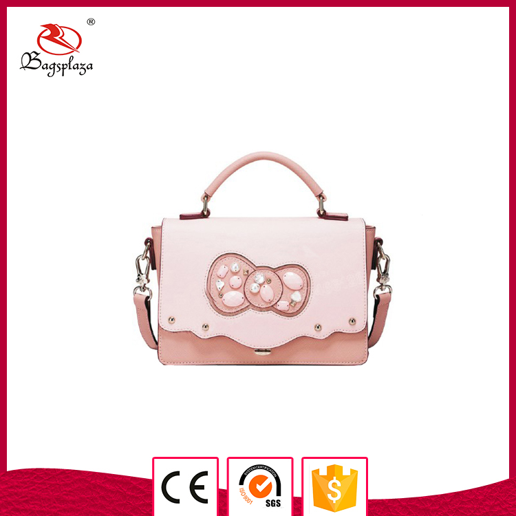 Alibaba China Flap with Rosette Spain Style handbag shoulder bag