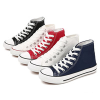 2020 Wholesale Hig Cut Vulcanized Sneakers Classic Canvas Shoes Cheap Price