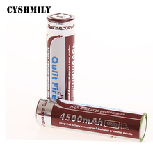 Wholesale Hot Well 18650 4500mAh 3.7V Li-ion Rechargeable Battery for LED Flashlight