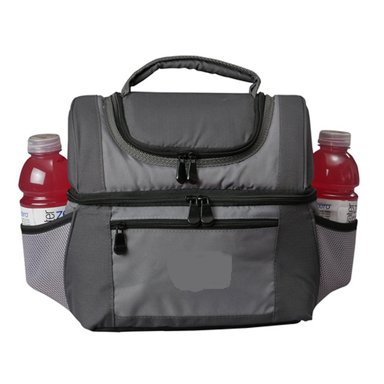 Insulated Double Compartments Extra Large Cooler Lunch Bag