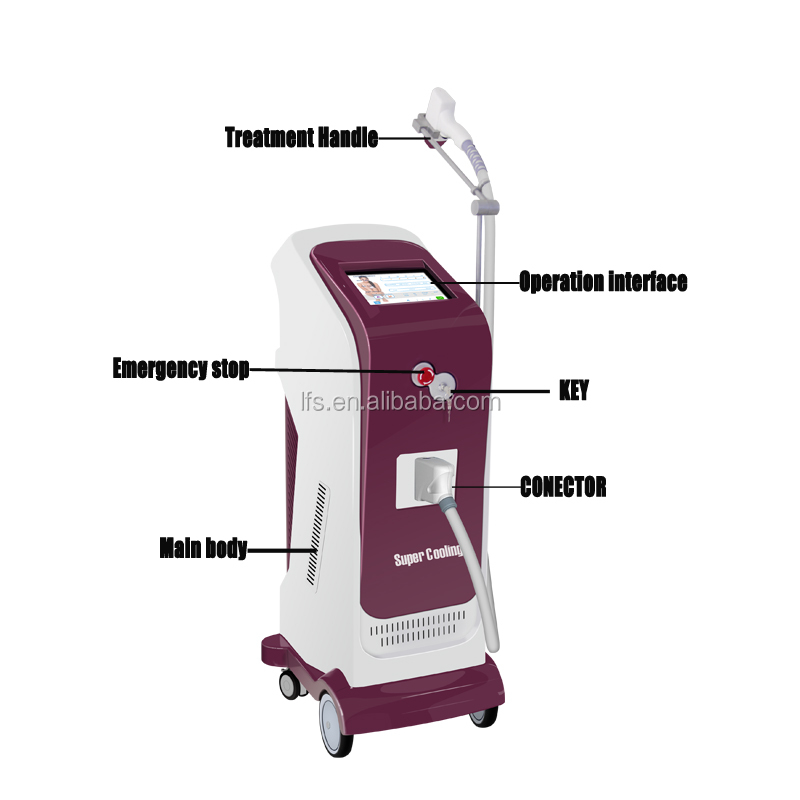 808nm diode laser glasses diode laser hair removal machine