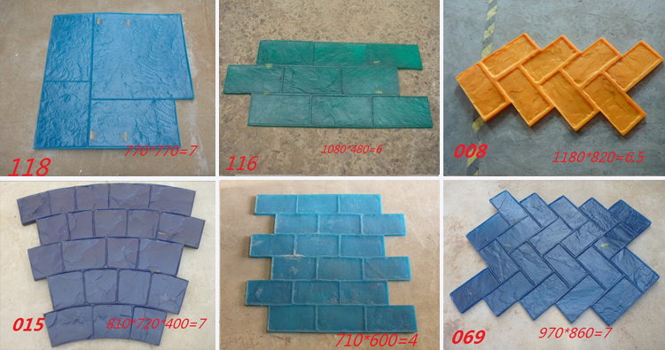 Patterns Concrete Stamp Molds Stamping Mats Tool Mould For Sale
