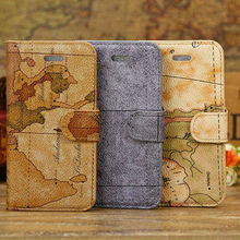 map stand case for iphone 5c, pu case for iphone 5c