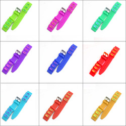 16mm Silicon watch strap/Silica Watch Straps colorful silicone bands