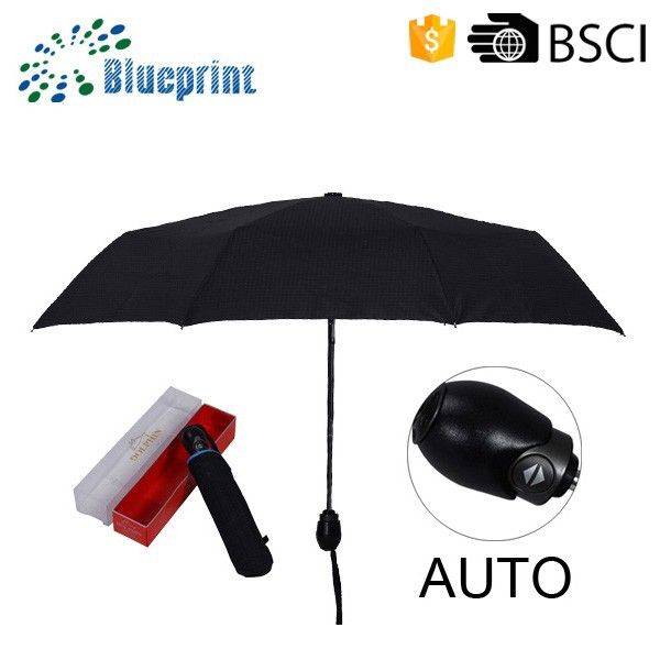 Black Anti UV Parasol Promotional Gifts Bag Size Mini Umbrella