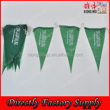 polyester triangle string flags