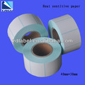 40X30X800 waterproof direct thermal scale printing sticker with blue glassine paper