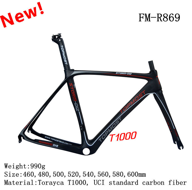 (On sales) 2013 newest design and high quality 700C road carbon bike frame T1000 di2 compatible carbon aero road frame for sales