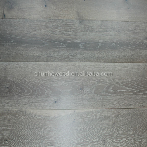 Smoked European Oak engineered wood flooring