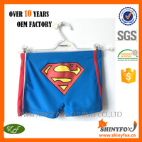 2015 Hot Sale New Style Factory Manufacturer Custom Designed Fashion Beach Swimming Shorts For Children