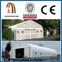 Zinc and color steel prefabricated steel house