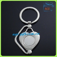Promotional Heart Metal Keychain Key Ring