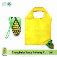 Yellow Folding Surpermaket Eco Tote Corn Shopping Bag
