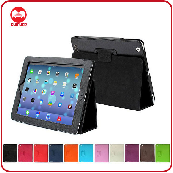 New Arrive Slim Folding Folio Stand PU Leather Case for ipad 5