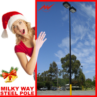 2015Hot Outside pole street light designer,driveway lighting pole manufacture