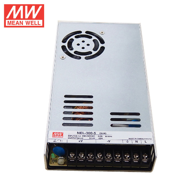 MEAN WELL NEL-300-5 Low Profile for LED Sign Panel UL Meanwell 300W 5V Power Supply
