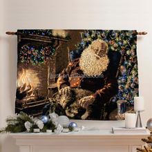 Light up home textile wall hanging cheap tapestry for living room