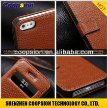 for apple for iphone5 leather case