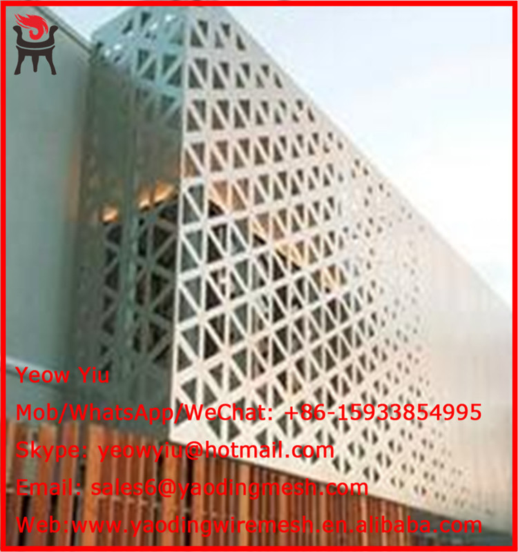 decorative perforated metal <strong>mesh</strong> for building material european market