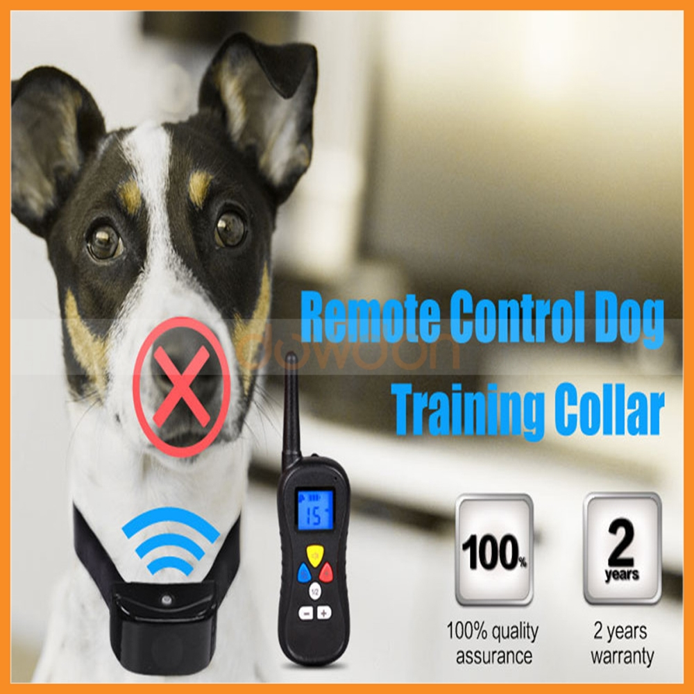 Wireless LCD Remote Dog Control Stop Barking Digital Display Electric Shock Dog Collar Training