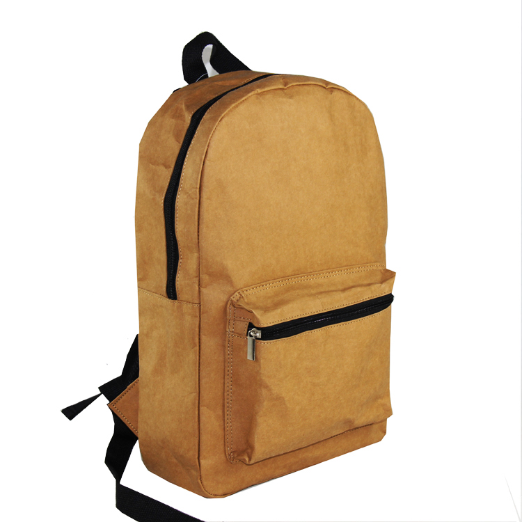 News Recycle washable kraft paper backpack <strong>bag</strong>