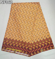 Noble fashion ankara fabric silk-like cotton african veritable wax prints fabric for woman dress NF062