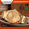 New 2016 Private Label Quartz Japan Movt Mens Custom Full Gold Luxury Watch Men
