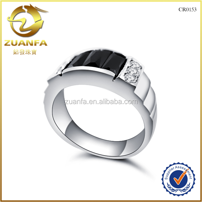 wholesale duangguan factory black onxy setting 925 silver full finger rings