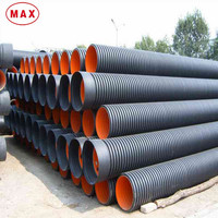 High pressure SN4/8 KN 5 inch double wall hdpe pipe cable